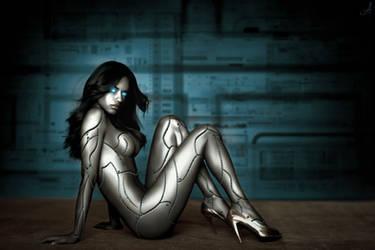 Adriana lima Cyborg v2 by mrmot31