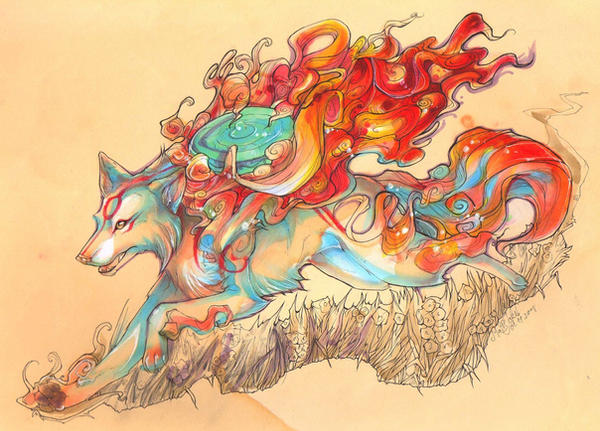 OKAMI color by Pre-maitre-Harley