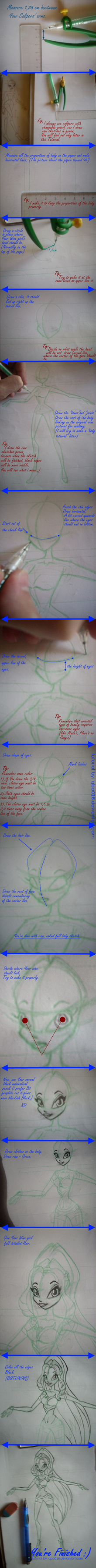 Drawing Winx  step by step by Qba016