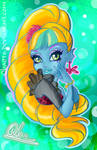 13 wishes ~ Freshwater Lagoona Blue