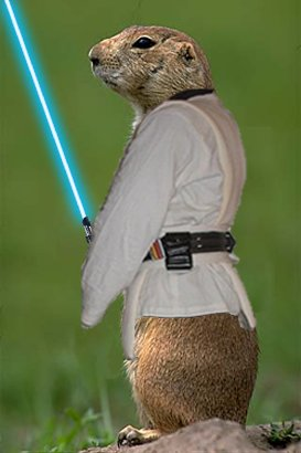 Prarie dog with lightsaber by CAxswimmer on deviantART