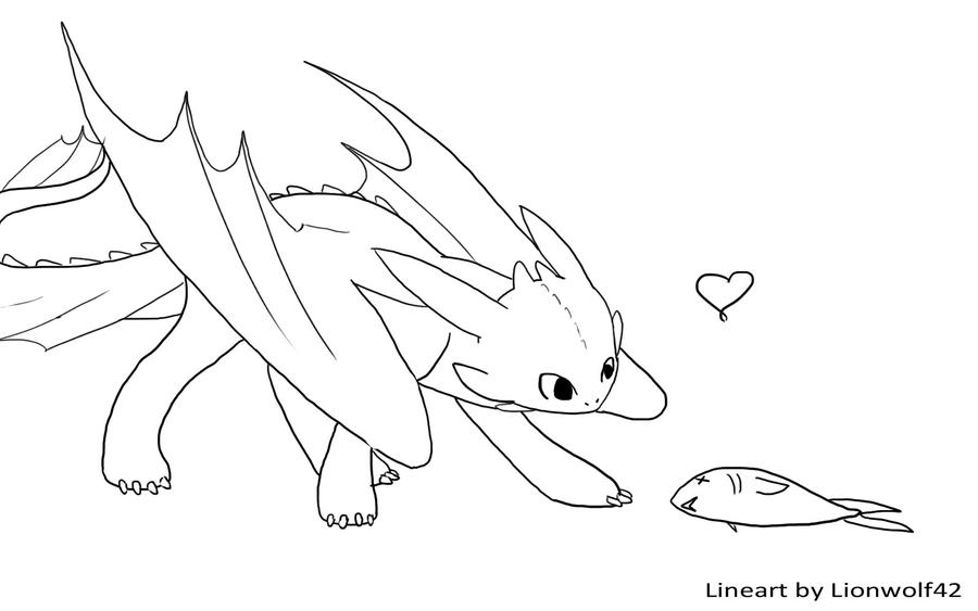 Toothless Line Art By Om Nom Nomnivore On Deviantart Toothless Coloring Pages