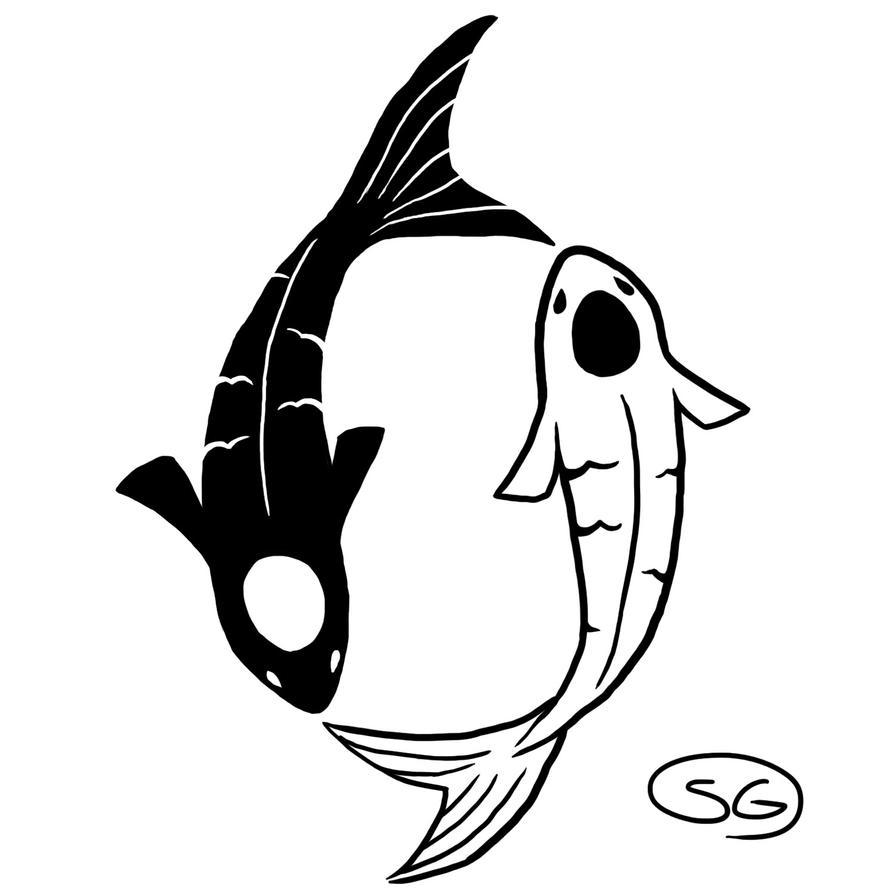 Koi yin yang by om nom nomnivore on deviantart for Koi yin yang