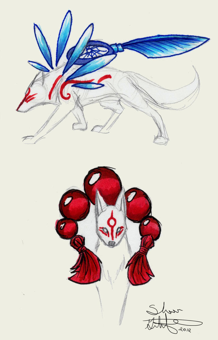 Okami weapons by Om-nom-nomnivore