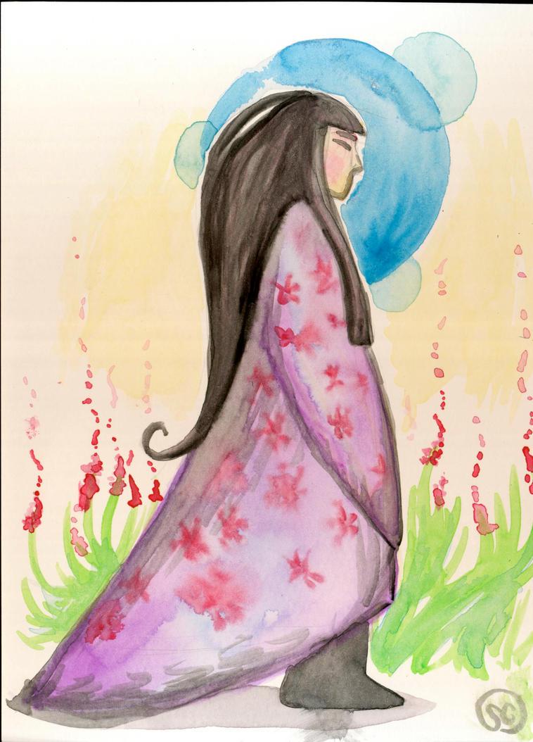 Watercolor Woman by Om-nom-nomnivore