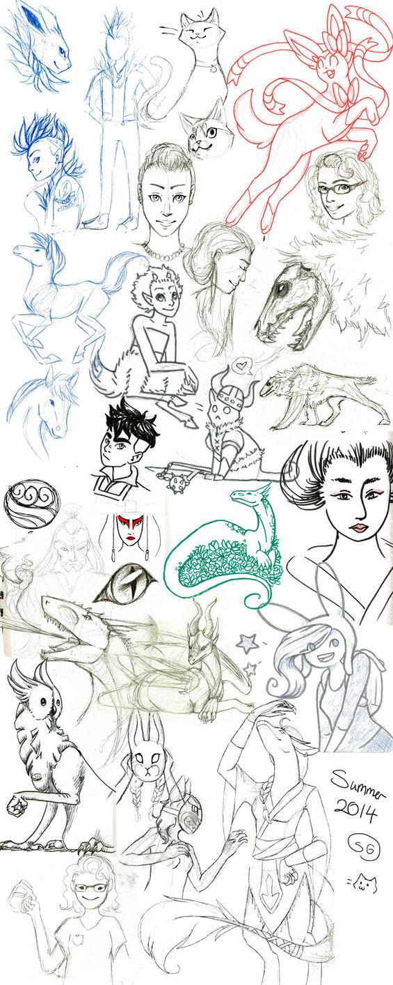 Summer 2014 Sketchdump by Om-nom-nomnivore