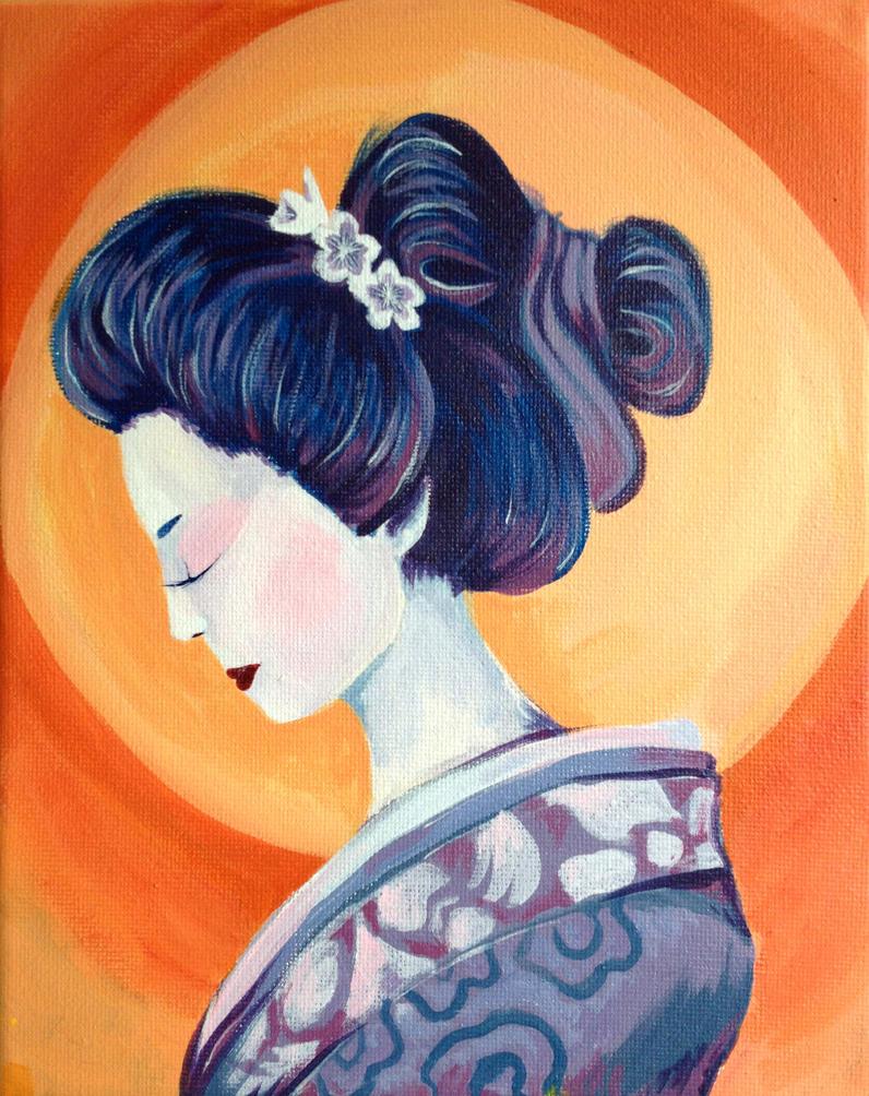 Purple Geisha by Om-nom-nomnivore