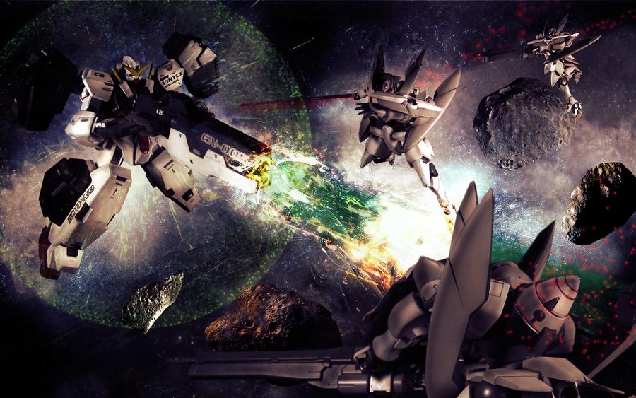 Gundam Virtue and GN-X by garretmasterson