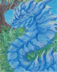Blue Acrylic Dragon by Lileos