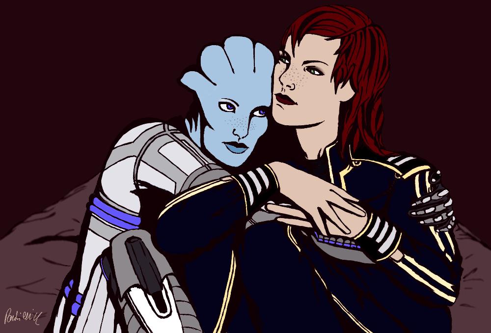 Liara and Jane by Ajmone