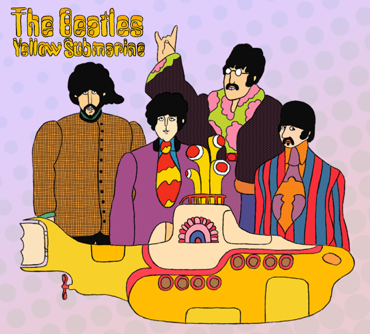 Yellow Submarine Photo Prop Tutorial on Color By Number Love