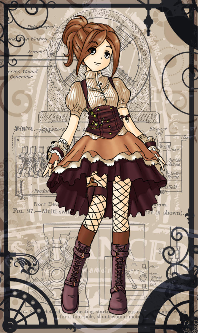 Steampunk Dress by lemonfox2002