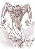 Werewolf sketch 02 by trantsiss