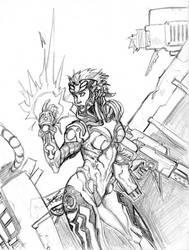 Sci-fi girl sketch by trantsiss