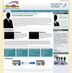 SignsUs.com Webpage by der-lukas