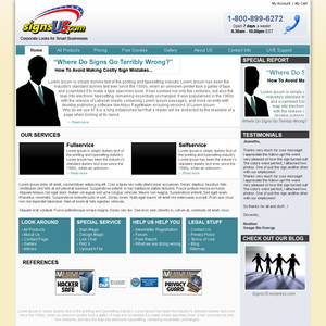 SignsUs.com Webpage