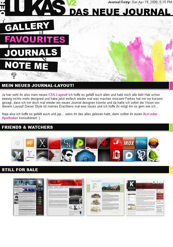 Journal V2 - WIP