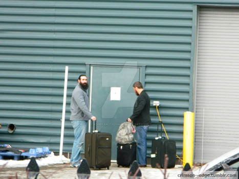 Luke Harper and Curtis Axel Candid