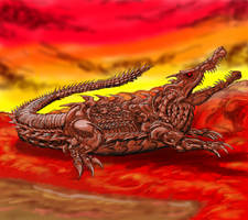 Carbide Crocodile (Chalyvasuchus) by Enneigard