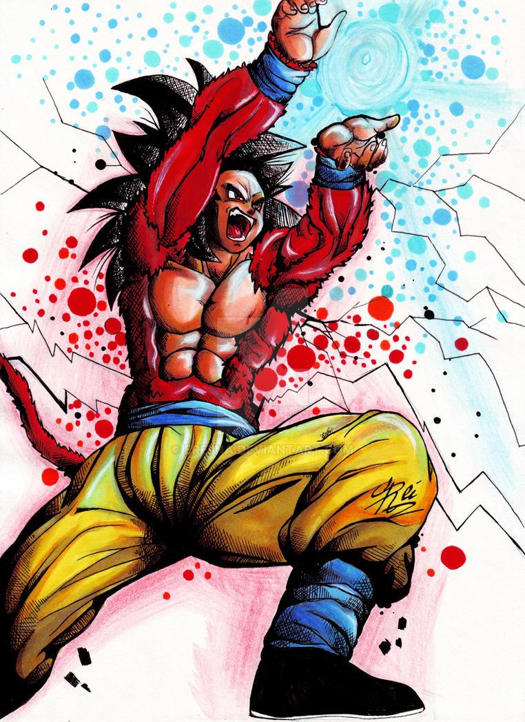 Goku ssj4 - dbgt 2 by eREIina