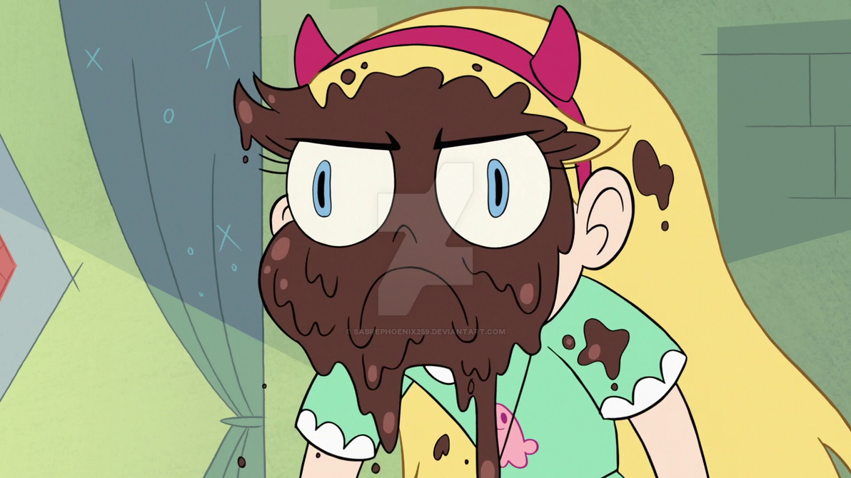 S3E11 Star Butterfly with pudding on her face by sabrephoenix259