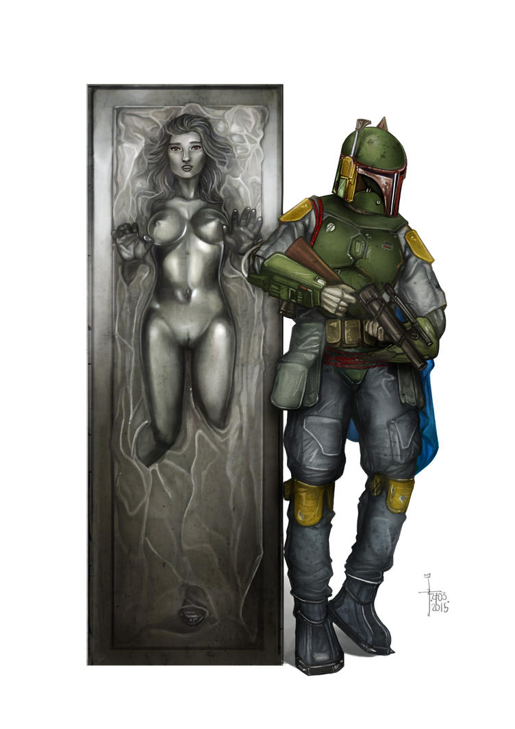 Boba Fett and Encased Lady by JonathanChanutomo
