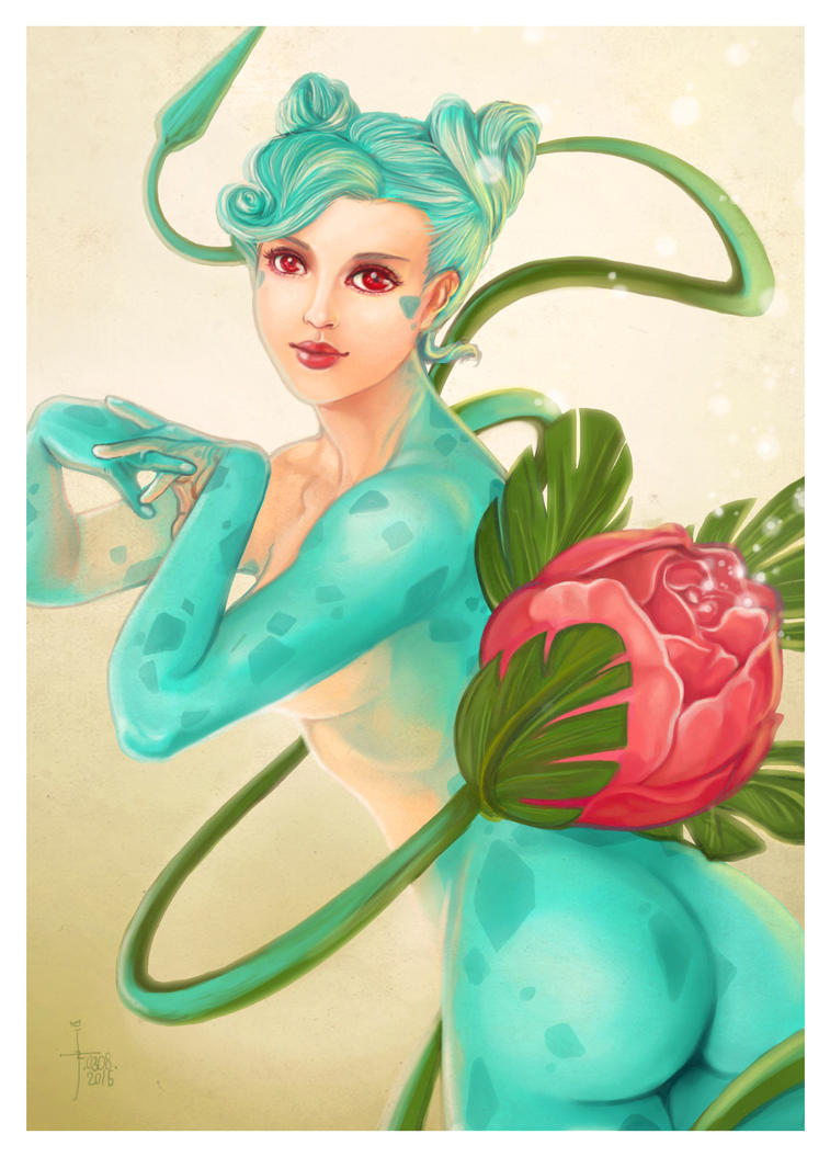 Poison Ivy-Saur by JonathanChanutomo