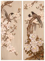 Peony and Magnolia by JonathanChanutomo