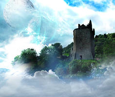 Castle Premade stock back 3 by DemoncherryStock