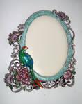 peacock frame stock