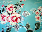 oriental blue flower texture