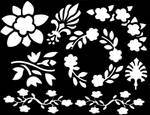 floral stencil stock