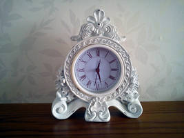 White Clock Stock by DemoncherryStock