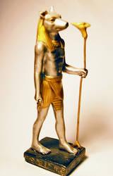Anubis Statue Stock