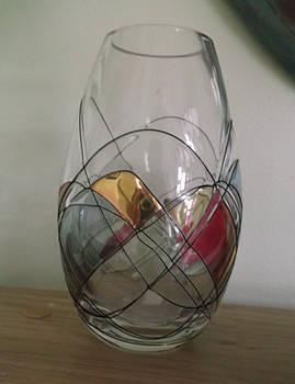Glass vase stock