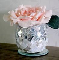 Rose in a vase stock