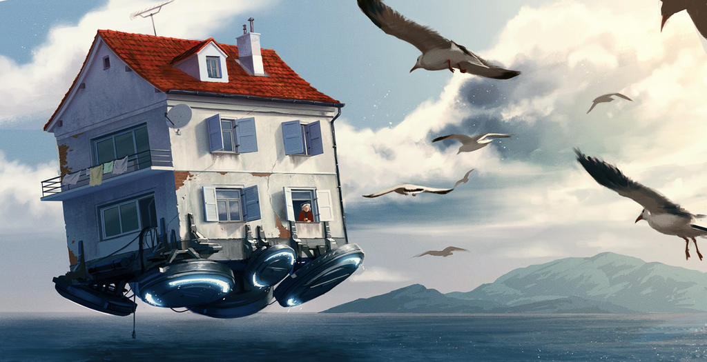 flying house by Ilmarinenn