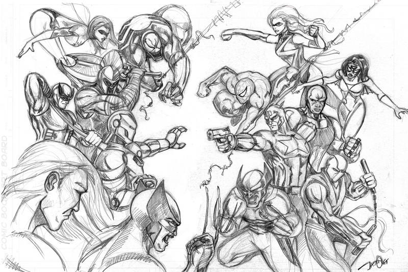 Critique Drawing Of Avengers