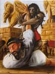 Enkidu wins Gilgamesh by BragliaIgor