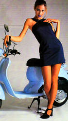 Clothing that I wore to go on a Vespa