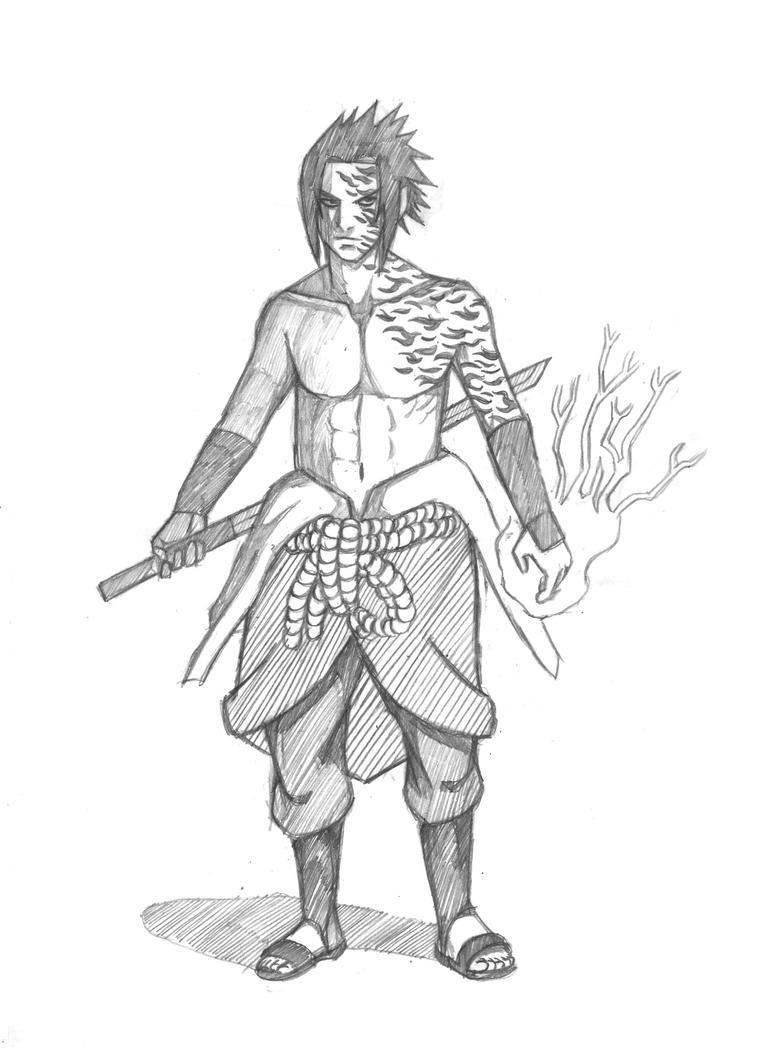 uchiha sasuke by kirawatball