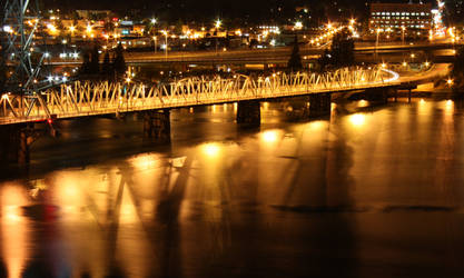 portland oregon at night by destinydai