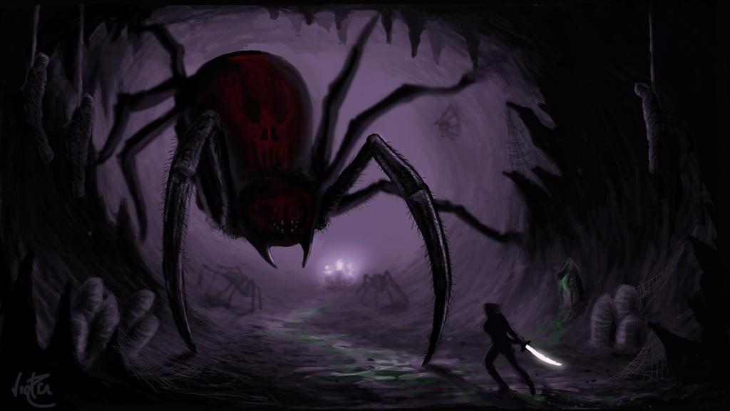 Les desseins d'un assassin Giant_spider_nest_by_victorelessar-d64w63u