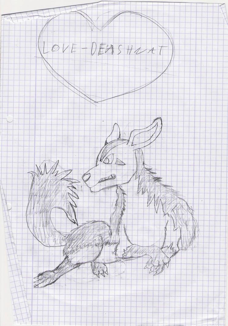 Mes dessin sur papier ^^ Un_grehyena_by_deashnat-d3fyhat