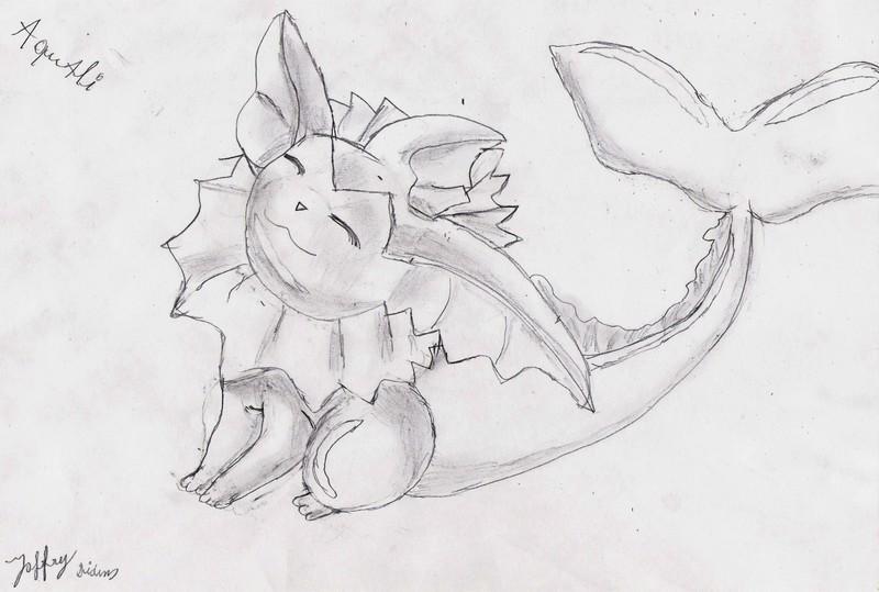 Mes dessin sur papier ^^ Aquali_by_deashnat-d3gmixm