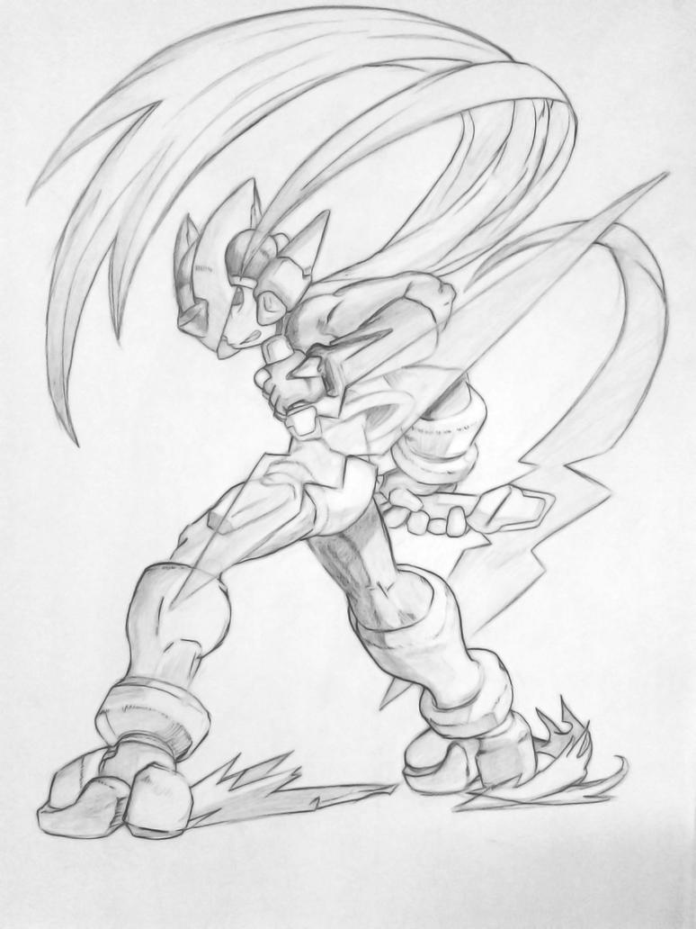 Megaman x coloring pages - Megaman Zero Cleaned By Megaman Ex