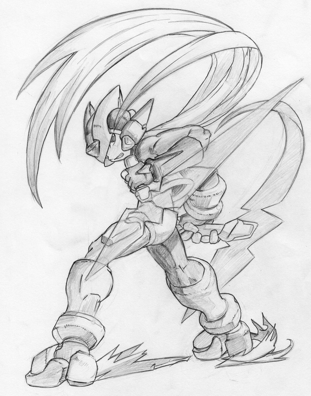 mega man zero by megamanex mario coloring pages - Mega Man Printable Coloring Pages