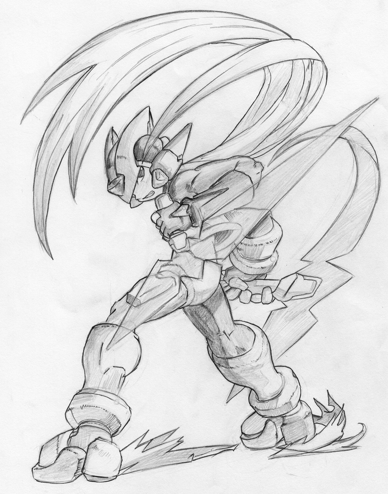zero from megaman free coloring pages
