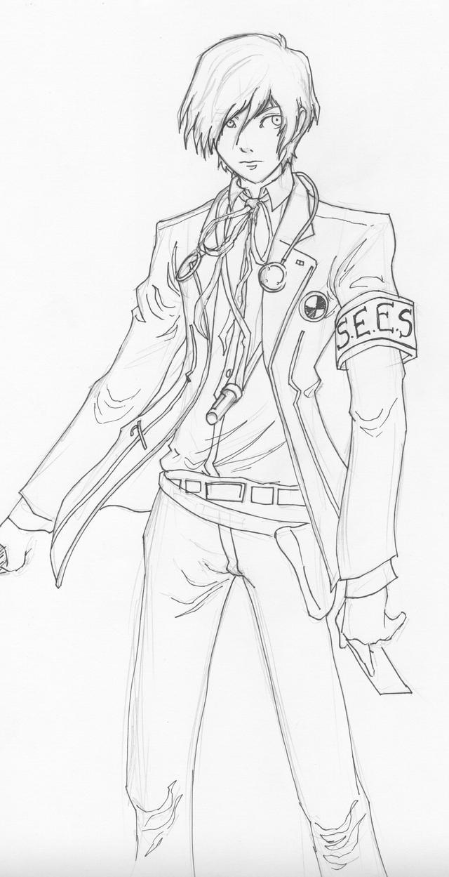 Persona 3 Protagonist Practice by Megaman-EX