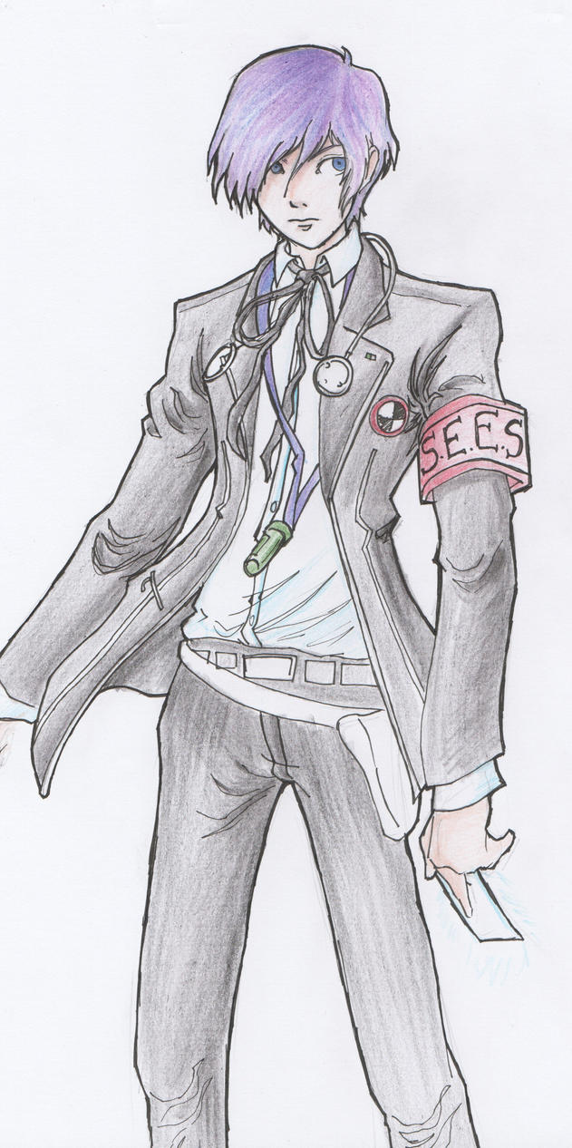 Persona 3 Practice Drawing Colored by Megaman-EX